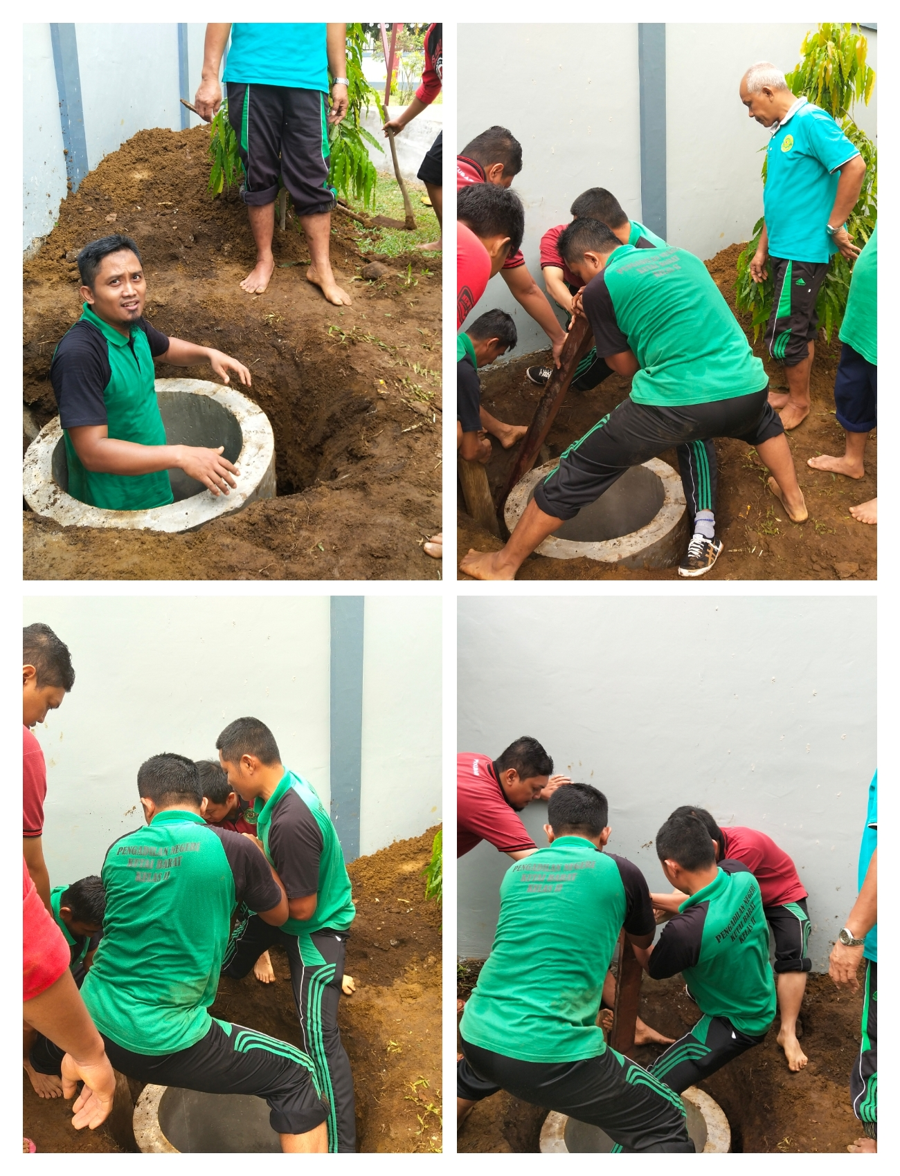 Kerja Bakti Pembangunan sarana Toilet untuk Mushola Al-Ikhlas