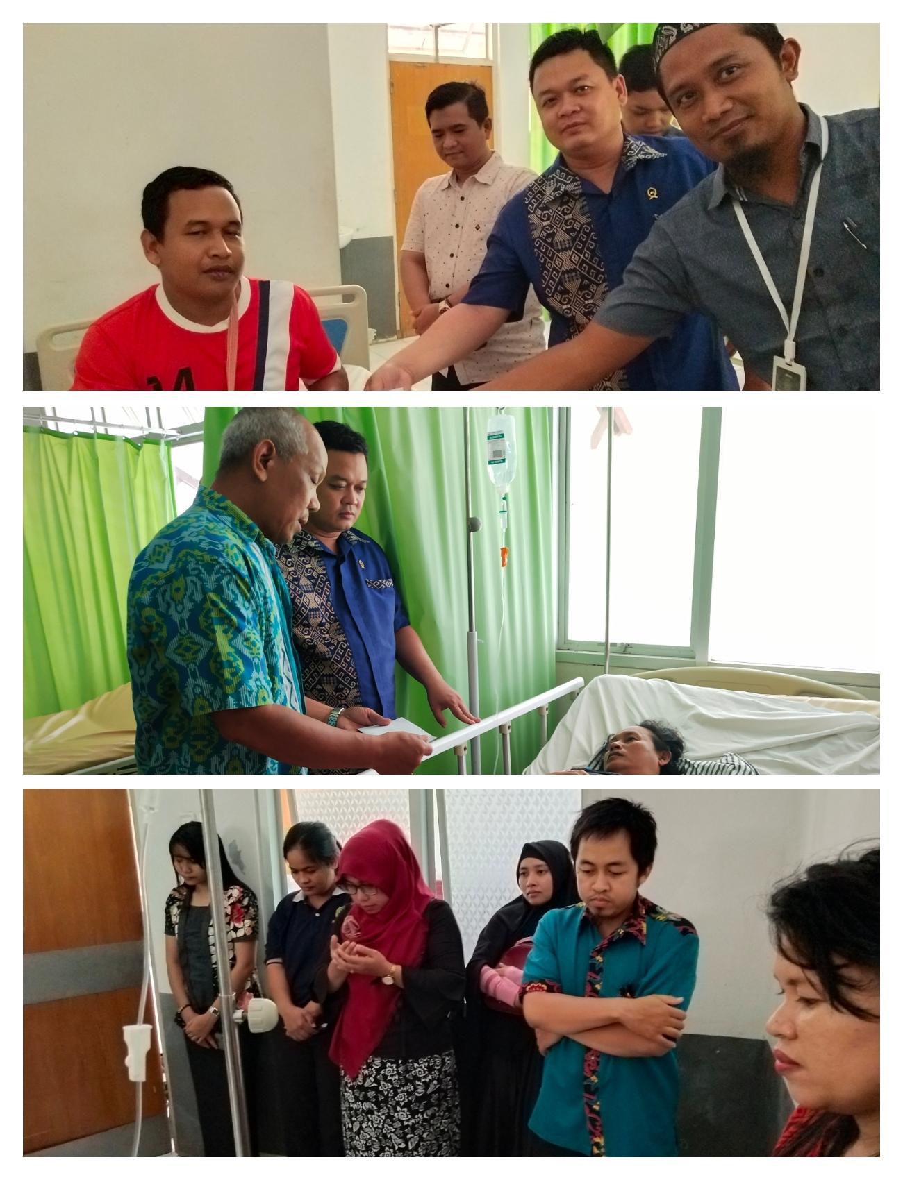 Warga Pengadilan Negeri Kutai Barat Mengunjungi PPNPN yang mengalami musibah tabrakan