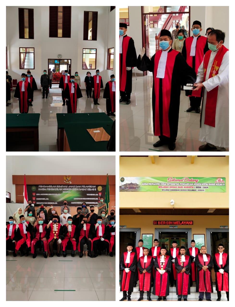 Pelantikan Hakim Pengadilan Negeri Kutai Barat