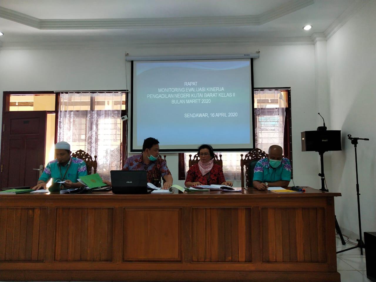 Rapat Evaluasi Kinerja Februari 2020