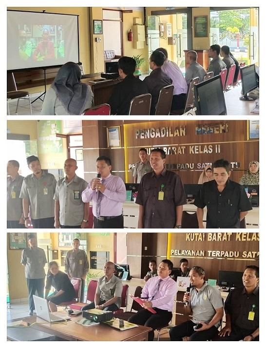 Kegiatan Telekonferen Bersama Ketua Pengadilan Tinggi Kalimantan Timur