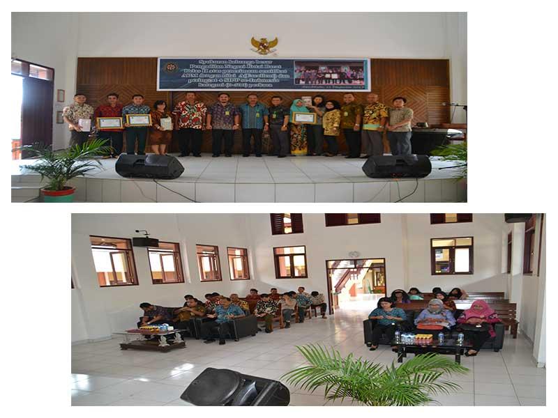 Syukuran atas penerimaan Sertifikat Akreditasi Penjaminan Mutu  dengan Nilai A (Excellent) dan Peringkat keempat Sistem Informasi  Penelurusan Perkara SIPP se- Indonesia Kategori 0-500 perkara